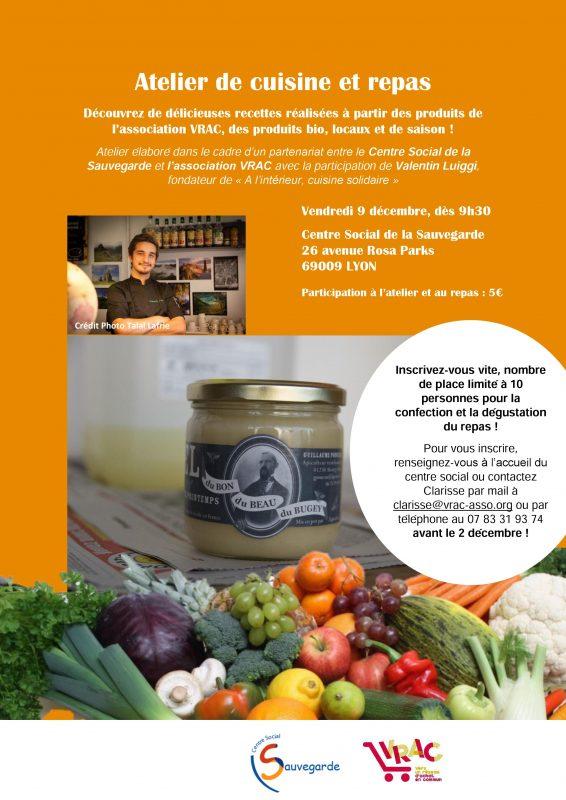 Atelier cuisine Duchère le 9 décembre