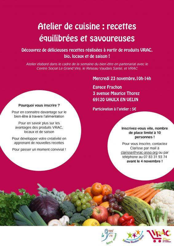Atelier Cuisine VRAC Vaulx-en-Velin
